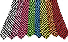 """Colors Checker Men Boy Unisex Retro Tie Narrow 3"""" Wide Classic Necktie"""