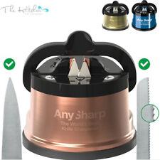 AnySharp World's Best Kitchen Knife Sharpener Std & PRO CHEF With Suction Base
