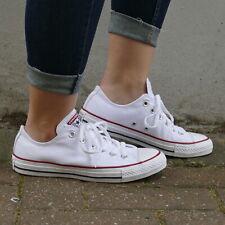 Converse Chucks All Star Ox M7652C White Canvas Schuhe Sneaker Herren Damen Weiß