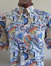 NWT Tommy Hilfiger Golf Hawaiian Shirt I Love Florida Surf Beach Miami Sz M L