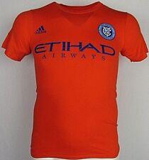 New York City FC NYCFC Adidas Men's S and M Orange T-Shirt MLS Josh Saunders #12