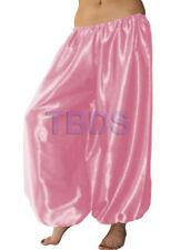 Pink   Student Satin Harem Yoga Trouser Belly Dance Pant Pantalons   27 Color