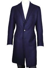 Cesare Attolini abrigo en azul oscuro estructurado con aufgesetzen bolsos de L