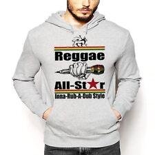 Reggae Hoodie 80's Classic Vintage Jamaican Roots Rock Jah Rastafari Selassie