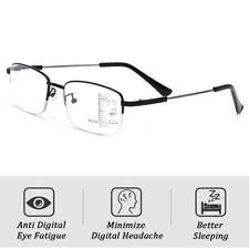 Metal Multi Focus Progressive Reading Glasses 3in1 Reader Spring Hinge Unisex