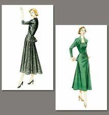 Vogue v8768 Vintage Model Dress Pattern Original 1950 Design Back Peplum 6-12