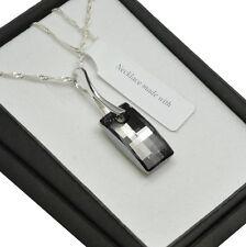 925 Collar De Plata Hecho con Cristales de Swarovski Plata * la Noche * Urbano