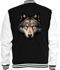 Animal Sweat College Jacke Wolf Kopf Natur Wild Indianer Trucker