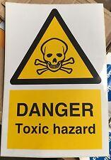 Warning Sign - DANGER Toxic hazard - 300 x 200mm Safety Signs