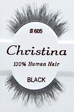 Christina #605 6,12 Pairs 100% Human Hair False Eyelashes
