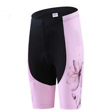 Pink Women's Cycling Shorts Ladies Padded Cycling Shorts Mountain Bike Knicks