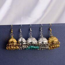 Women's Antique Bohemian Tribal Ethnic Ethnic Indian Small Bell Drop Earrings