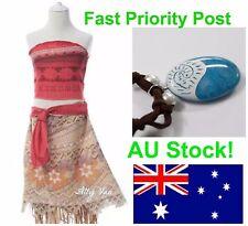 Moana Premium Costume Girls Dress, Necklace, Hair Wreath IN STOCK NOW Halloween
