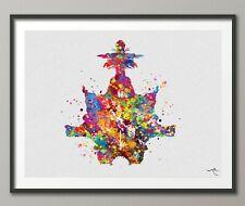 Rorschach Inkblot Test Card 6 PSI Watercolor Print Psychiatry Clinic Decor-1316