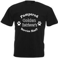 PAMPERED GOLDEN RETRIEVER'S SERVICE STAFF T-SHIRT Funny Dog Lover Gift Labrador