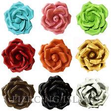 Edler Ring Rose Leder Natur Schmuck AR070 ** Farbauswahl in 9 Farben möglich**