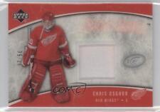 2005 Upper Deck Ice Frozen Fabrics Patch #FFP-CO Chris Osgood Detroit Red Wings