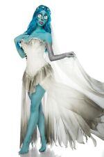 robe de mariée de cadavre féminin Halloween costume blanc court tulle voile uy 8