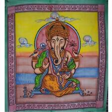 Buddha-Lakhsmi-Shiwa-Ganesha Motive Indische Baumwoll Tagesdecken XXL 210x240 cm
