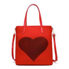 Anna Ricci Woman Fashion Handbag Mavshmallow Love Tote Bag - BLK, RED