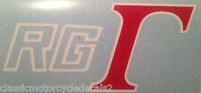 SUZUKI RG500 RG250 RG125 GAMMA PETROL TANK DECALS