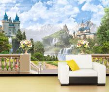 3D Castle Scenery 821 WallPaper Murals Wall Print Decal Wall Deco AJ WALLPAPER