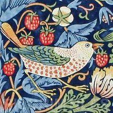 William Morris Strawberry Thief Bird Indigo Tile Kitchen Bathroom Splashback
