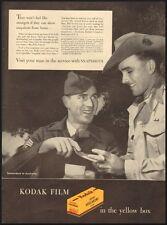 1945 Vintage ad for Kodak Film Verichrome in the yellow box  (121411)