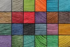 Cordon coton ciré Ø 1mm , création bijou, bracelet shambala couleur au choix :