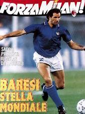 Forza Milan 7/8 1990 Franco baresi Stella mondiale il capitano