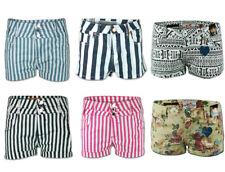 Ladies Shorts Womens Hot Pants Jeans Denim Aztec Floral Stripe Print High Waist