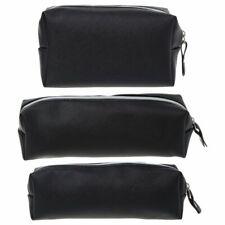 Leather Pencil Pouch Small Luxury Case Black For Men Women Vintage Makeup Purse
