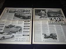 80's Classics Mazda MX5, 2CV, MR2, BMW M3, X19, 205, Golf, Jag XJ12, Cosworth