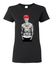 Ladies Trump Make America Great Again President USA Thug Gangster DT T-Shirt Tee