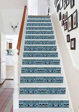 3D Glass Pieces 101 Stair Risers Decoration Photo Mural Vinyl Decal Wallpaper AU