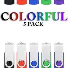 5PCS USB 2.0 Flash Drive 1G 2G 4G 8G 16G 32G Thumb Pen Drive Swivel Memory Stick