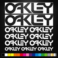 OAKLEY 11 Stickers Autocollants Adhésifs Auto Moto Voiture Sponsor Marques
