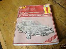 VW Dasher Repair  manuel 74-81 yr. gas engines haynes