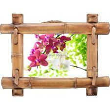 Adesivo Cornice Bambù Orchidea 7109