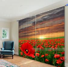 3D Blume Feld 644 Blockade Foto Vorhang Druckvorhang Vorhänge Stoff Fenster DE