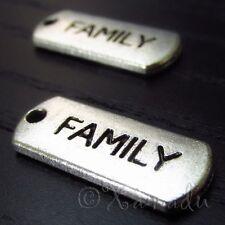 Family Wholesale Inspirational Message Charm Pendants C3158 - 10, 20 Or 50PCs