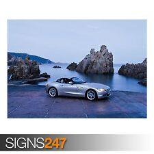 BMW Z4 CABRIO (AB329) CAR POSTER - Photo Picture Poster Print Art A0 A1 A2 A3 A4