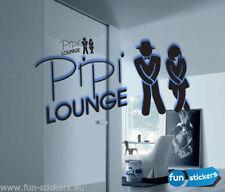 WC Aufkleber / Sticker Tür Aufkleber Pipi Lounge freie Farbwahl