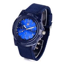 Round Dial Nylon Strap Band Men Boy Military Army Quartz Wrist Watch Gift Hot