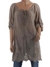 Tunika Longshirt Modisch Damen Blumen Italy Lagenlook Neu 40 42 44 L XL XXL