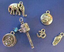 Buddha prayer wheel shiva Nepal lotus ganesha OM dorje Taj Mahal charm sets