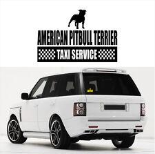 AYC Auto Aufkleber AMERICAN PITBULL TERRIER Taxi Service Hunde fun Siviwonder
