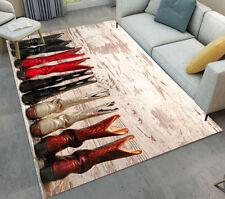 Cowboy Long Boots Living Room Soft Carpet Floor Kids Play Mat Home Area Rugs
