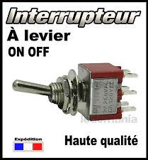 936R# interrupteur à levier 2 circuits 2 positions  OFF - ON  <> 1 à 25pcs