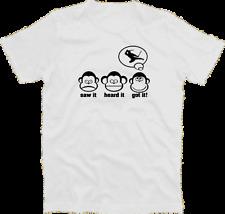 Tre scimmie saw it heard it got it NINJA shinobi kunoichi ninjutsu T-Shirt S-XXXL